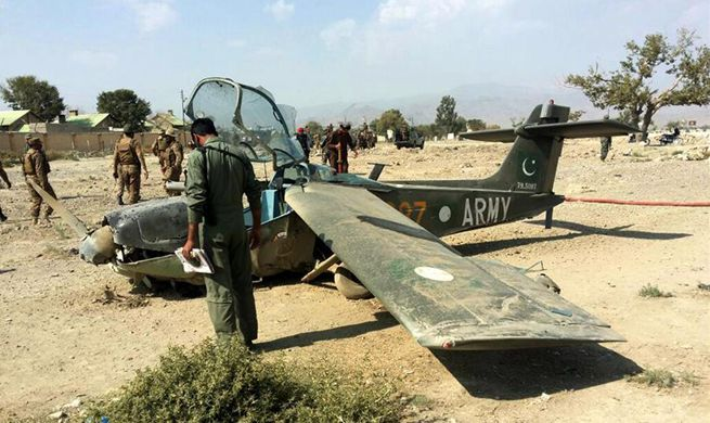 Army trainer plane crashes in NW Pakistan, injuring 3