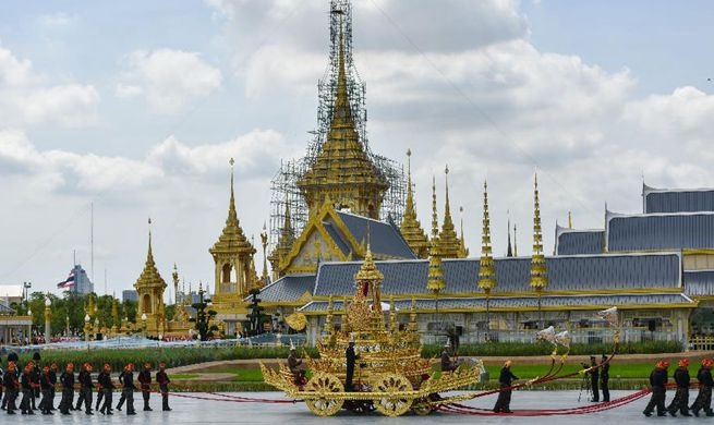 2nd rehearsal for funeral of late Thai King held in Bangkok