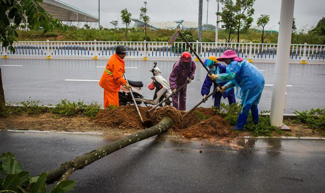 Typhoon Khanun makes landfall in south China