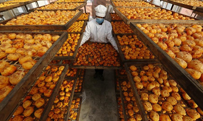 Selling dried persimmons builds up fortune for farmers in E China