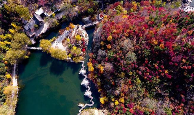 Autumn scenery of Jiuru Mountain in Jinan, China's Shandong