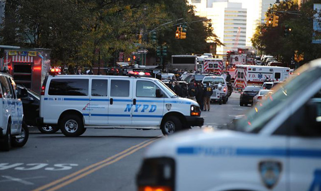 "Eight dead in New York City ""act of terror"""