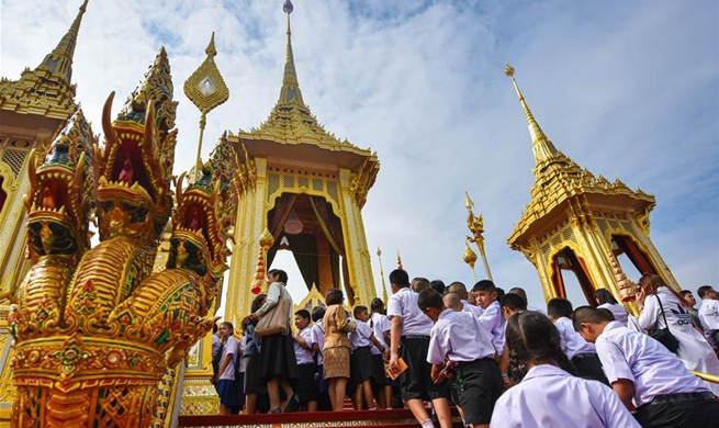 Late Thai king's crematorium scheduled to open from Nov. 2 to 30