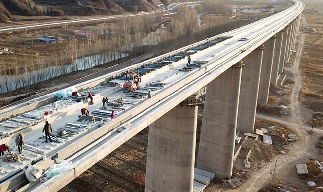Beijing-Shenyang high-speed railway under construction
