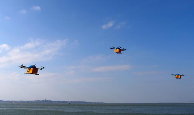 Chinese e-commerce giant Alibaba's drones deliver packages to islands