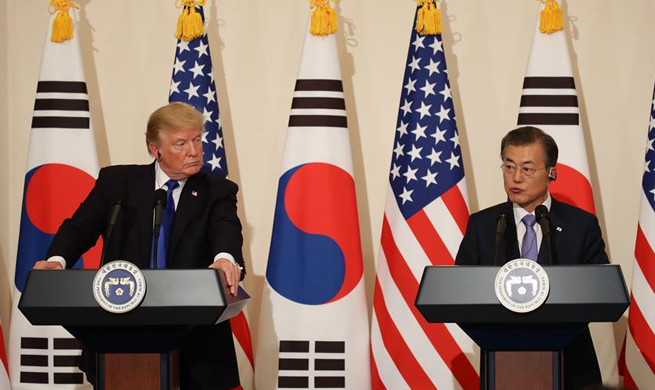 Trump, Moon Jae-in agree to peacefully resolve issues on Korean Peninsula