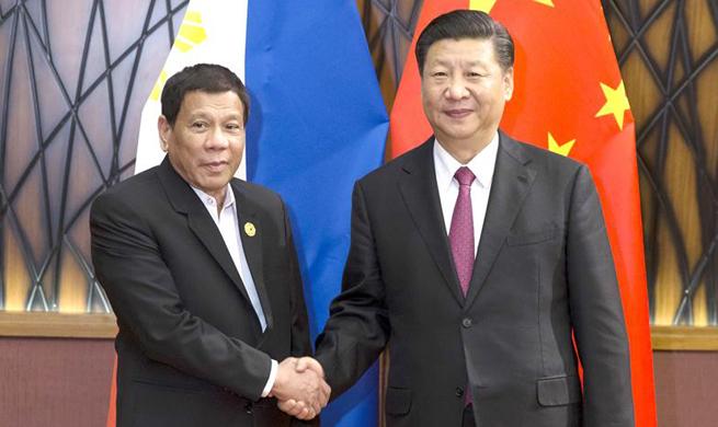 Xi, Duterte meet on strengthening China-Philippines ties