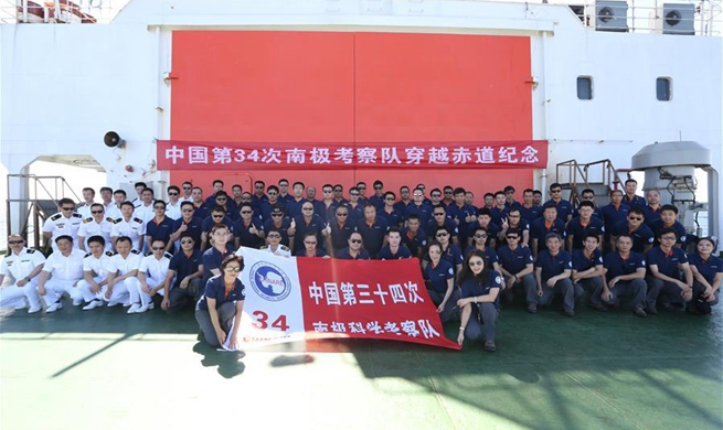 Xuelong crosses equator for 34th scientific expedition to Antarctica