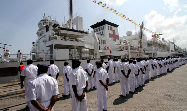 Chinese naval hospital ship Peace Ark arrives in Tanzania
