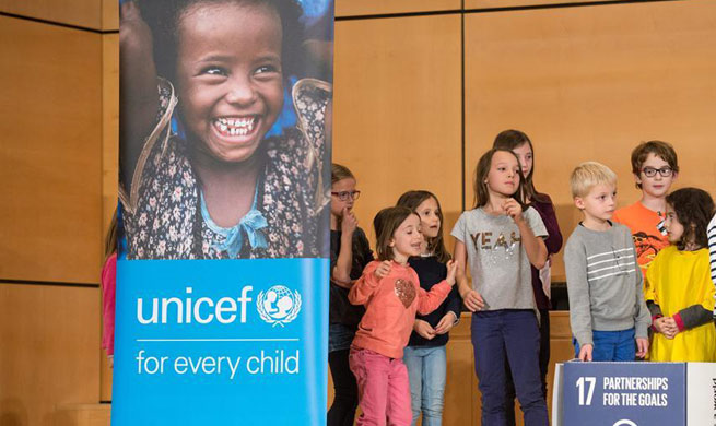 Over 200 children and young people mark World Children's Day in Geneva
