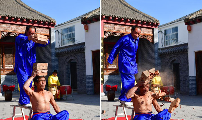 People practice acrobatics in C China