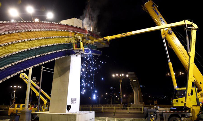 "Beijing rebuilds iconic ""rainbow gates"" on Chang'an Avenue"