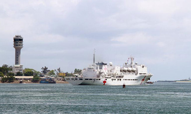 Chinese naval hospital ship Peace Ark concludes humanitarian mission in Tanzania