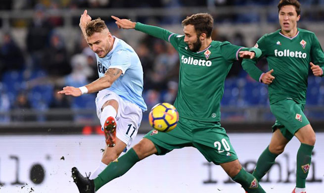 Lazio ties with Fiorentina in Serie A match