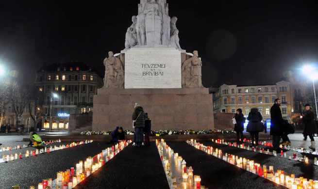People in Riga remember Latvia's worst Holocaust tragedy
