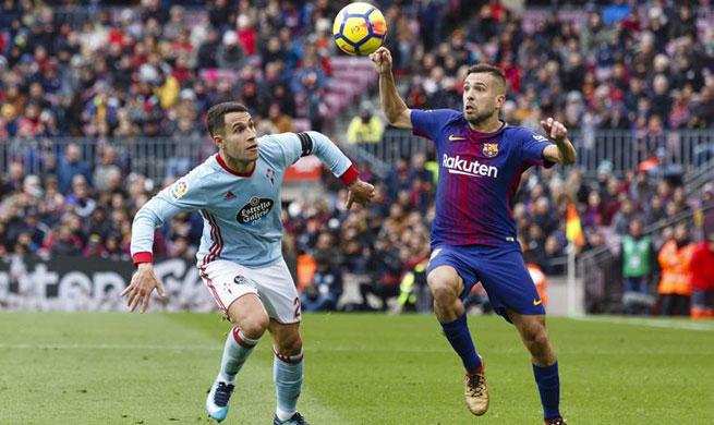 FC Barcelona draws RC Celta 2-2 during Spanish League match