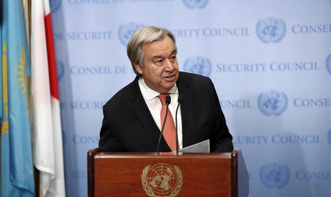 UN chief opposes any unilateral measures jeopardizing peace prospect for Israelis, Palestinians