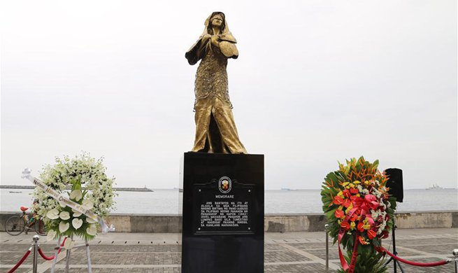 Philippines unveils World War II sex slave statue in Manila