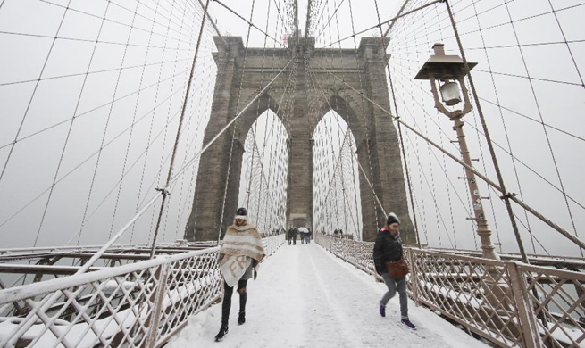 First snowfall this season comes to New York
