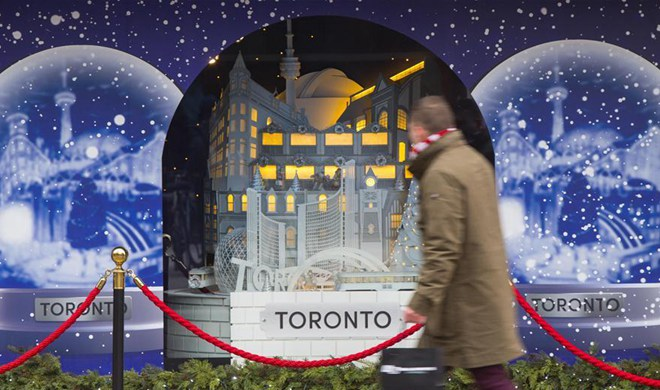 In pics: holiday window displays of Hudson's Bay in Toronto