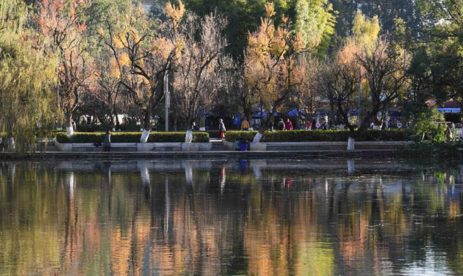 Attractive scenery in Kunming, China's Yunnan