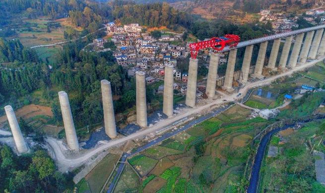 Anshun-Liuzhi intercity railway expected to finish in 2019