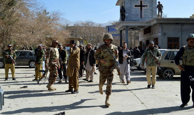 8 killed, 44 injured in Pakistan's church attack