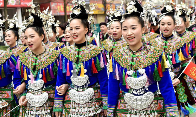 People of Dong ethnic group celebrate Dongnian festival