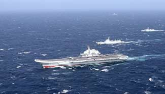 China aircraft carrier conducts drill in S. China Sea