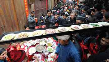 Delicious food enjoyed at Spring Festival