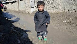 Cold winter blankets Afghanistan