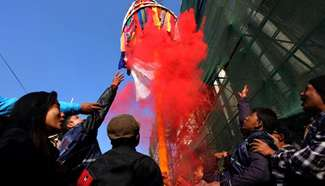 """Festival of colors """"Holi"""" celebrated in Nepal"""