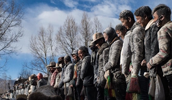 Traditional activity held at Gyangze in SW China's Tibet