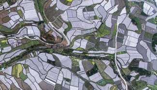 Aerial view of farmlands across China