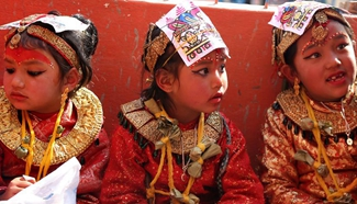 """""""Marriage ceremony"""" held for Newar girls and bael fruits in Nepal"""