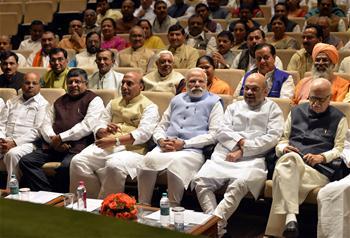 Modi attends ruling BJP parliamentary board meeting in New Delhi