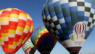 National Meeting of Hot Air Balloons held in Teotihuacan, Mexico