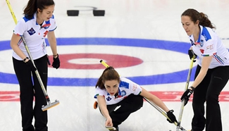 Italy beats China 8-4 during World Women's Curling Championship