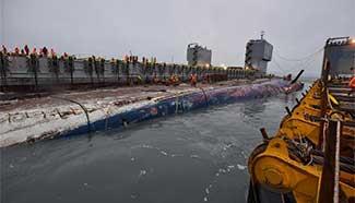 Sunken South Korean passenger ferry Sewol lifted successfully