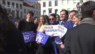 Brussels celebrates EU's 60th birthday as Britain prepares to leave
