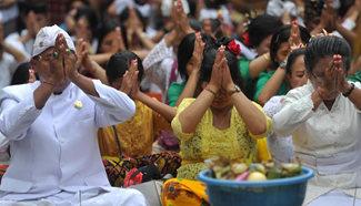 Nyepi Day marked in Jakarta, Indonesia