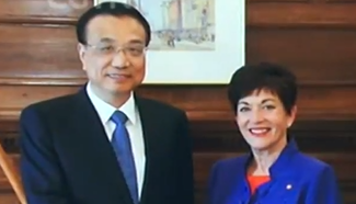 Chinese Premier Li meets with New Zealand Governor-general