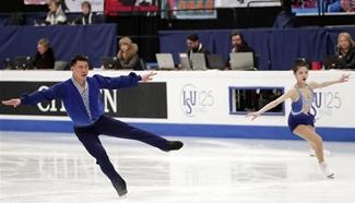 Highlights of pairs short program of World Figure Skating Championships