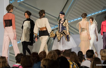 Models present creations at Corset fashion contest