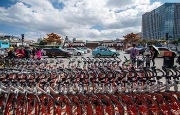 Shared bicycles seen in SW China's Kunming