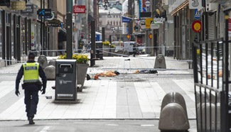 In pics: truck attack site in Stockholm