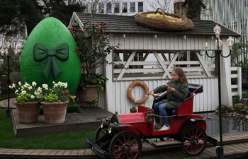 Easter eggs decorated in Tivoli Gardens, Copenhagen