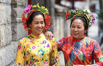 """Xunpu"" women seen in Quanzhou City, China's Fujian"