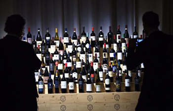 Wine auction held in Verona, Italy