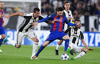 Juventus beats Barcelona 3-0 at UEFA Champions League